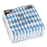 Papstar 100 Servietten, 1lagig 1/4Falz 33 cm x 33 cm Bayrisch Blau