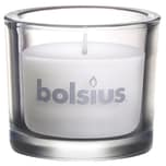 Gefülltes Glas von Bolsius Ø 9,2 cm x 8 cm weiß