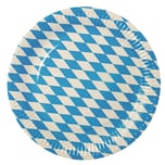 """50 Teller, Pappe rund Ø 26 cm """"Bayrisch Blau"""" extra stark"""