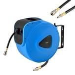 pro.tec Druckluftwerkzeug Druckluft Schlauchaufroller Schlauchtrommel 30 m Blau Schwarz