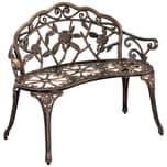 casa.pro Gartenbank Salo Parkbank Sitzbank aus Gußeisen Shabby Bronze