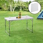 casa.pro Höhenverstellbarer Klapptisch Multifunktionstisch Falttisch bis zu 30 kg Weiß