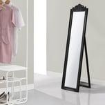 en.casa Standspiegel Arezzo Ganzkörperspiegel rechteckig Ankleidespiegel kippbar Barock Schwarz