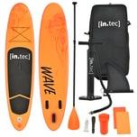 in.tec Stand Up Paddle Board SUP Irun Aufblasbar bis 85kg Orange