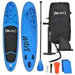 in.tec Stand Up Paddle Board SUP Irun Aufblasbar bis 85kg Blau