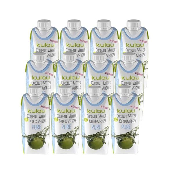 Kulau Bio Kokoswasser Pure 12x330ml