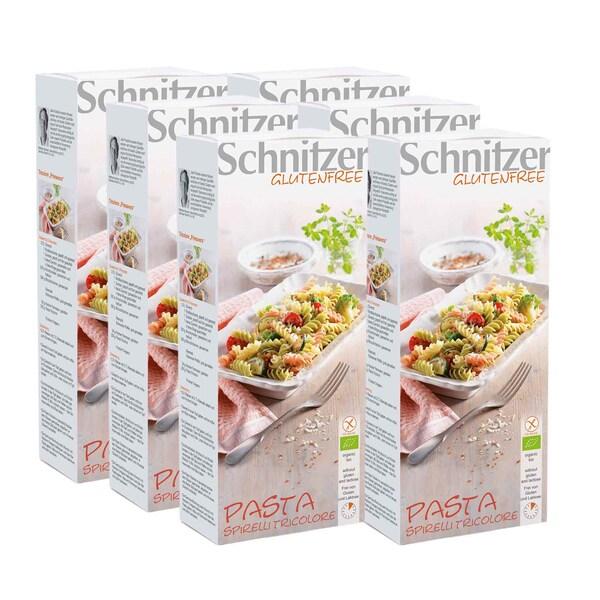 Schnitzer Bio Pasta Spirelli Tricolore glutenfrei 6x250g