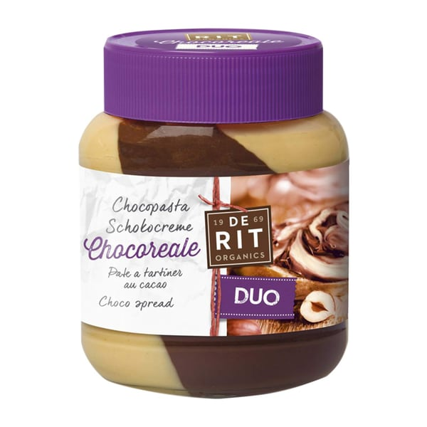 Chocoreale Bio Duo-Schokoladencreme mit Haselnuss 350g