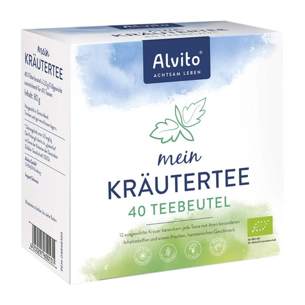 Alvito mein Kräutertee, 40 Teebeutel, Bio, 80 g