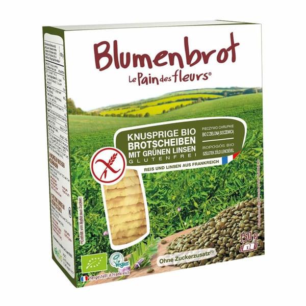 Le Pain des fleurs Blumenbrot grüne Linsen, Bio, 150 g