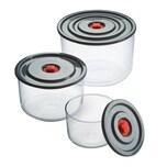 PureNature Glasbehälter mit Frischhaltedeckel, 3er Set