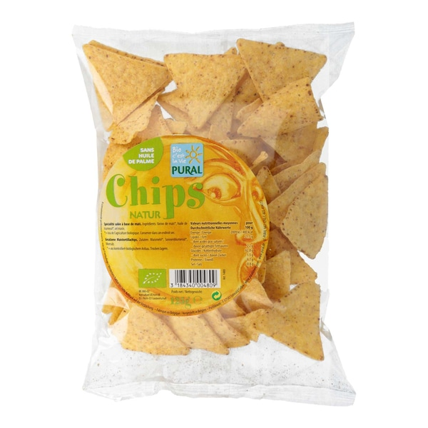 Pural Chips Natur, Bio, 125 g