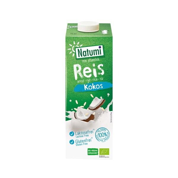 Natumi Reisdrink Kokos, Bio ohne Zuckerzusatz, 1 l