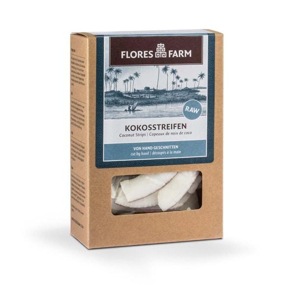 Flores Farm Bio Kokosnuss Streifen, 90 g