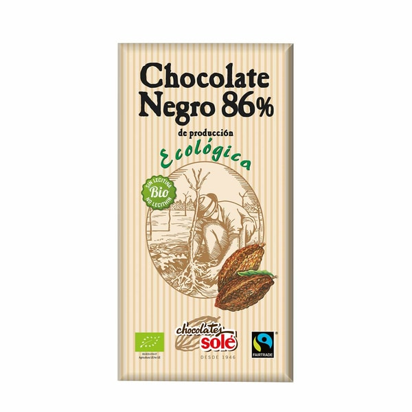 Chocolates Solé Bio Dunkle Schokolade 86% Kakao 100g