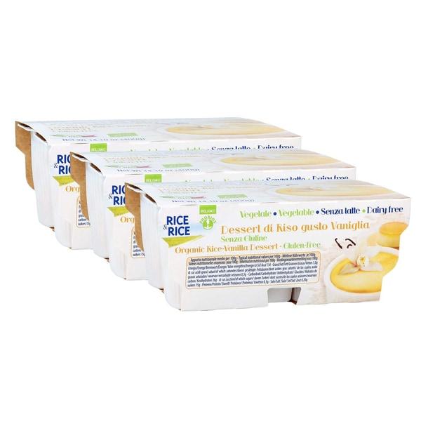 Probios Bio Reis-Dessert Vanille 3 Packungen à 4x100g