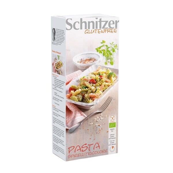 Schnitzer Pasta Spirelli Tricolore, Bio, 250 g
