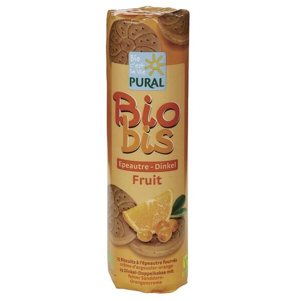 Pural Bio Dinkel-Doppelkeks mit Sanddorn-Orangencreme 300g