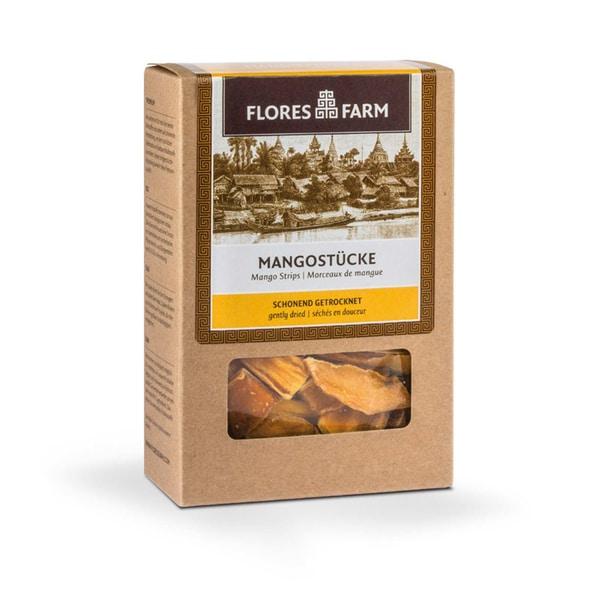 Flores Farm Bio Mangostücke Premium, 100 g