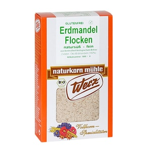 Werz Erdmandel-Flocken, Bio, fein gemahlen, 250 g