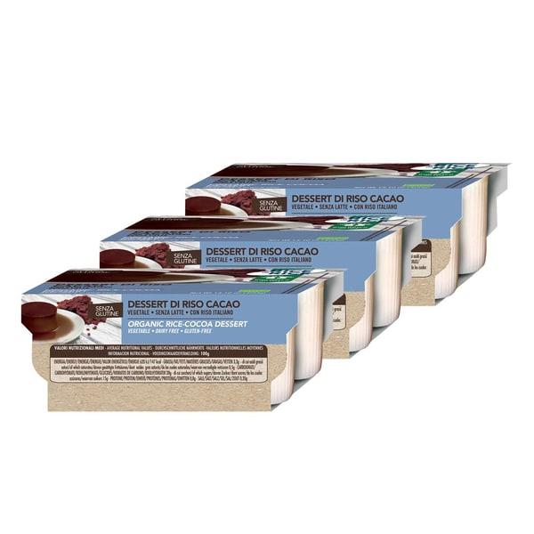 Probios Reis Dessert Kakao, Bio, 3 Packungen à 4x100 g