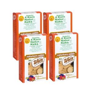 Werz 4-Korn-Natur-Keks, Bio, glutenfrei, 4x150 g