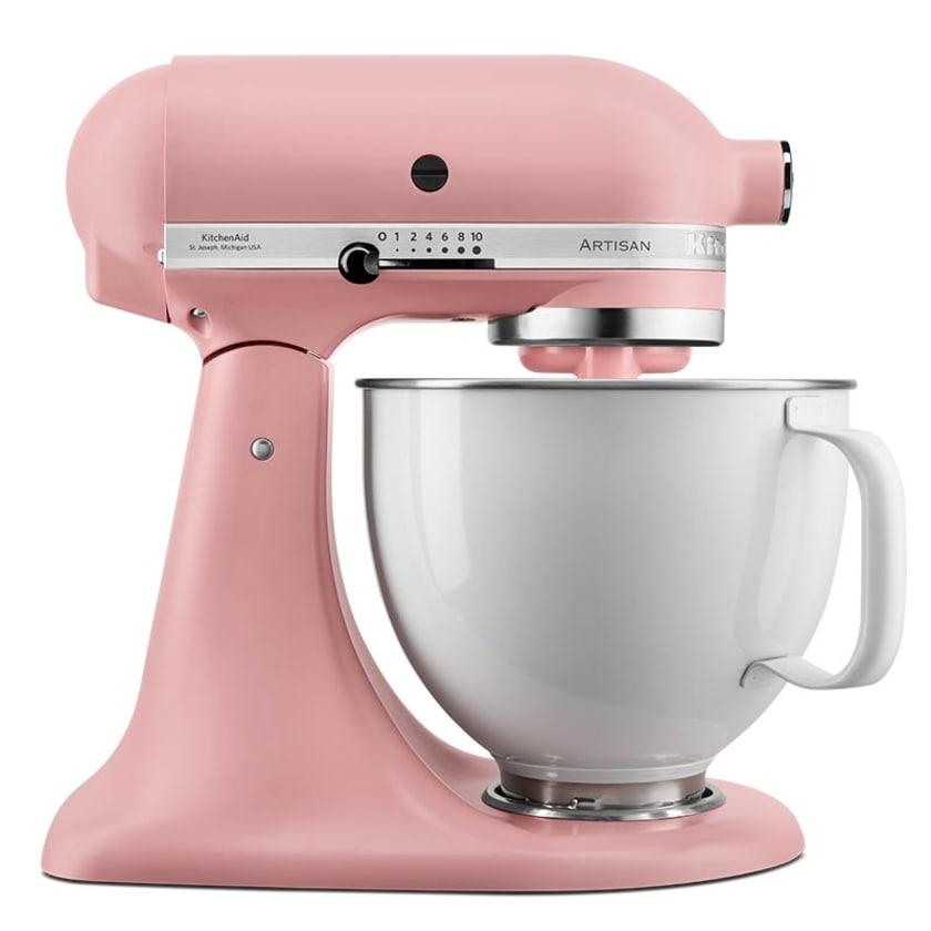 KitchenAid Limited Edition ROSE WHITE mit Profi-Spritzschutz