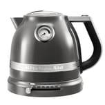 KitchenAid Artisan Wasserkocher mit 1,5 L Fassungsvermögen 5KEK1522EMS Medaillon Silber