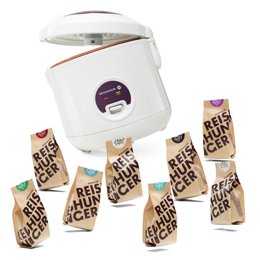 Reishunger Reiskocher 500W 1,2L + Finde deinen Lieblingsreis Set