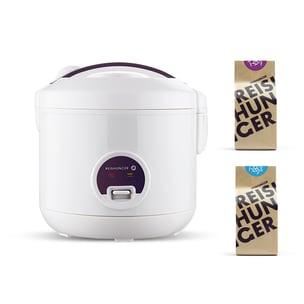 Reishunger Reiskocher 500W 1,2 l & Bio Basmati Reis und Jasmin Reis Bundle