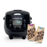 Reishunger Digitaler Mini Reiskocher Bundle mit Jasmin und Basmati