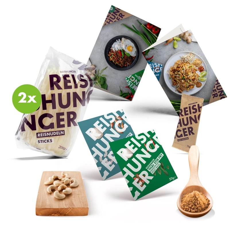 Reishunger Stir-Fry Box Pad Thai & Holy Basil für 4 Personen 6-teilig