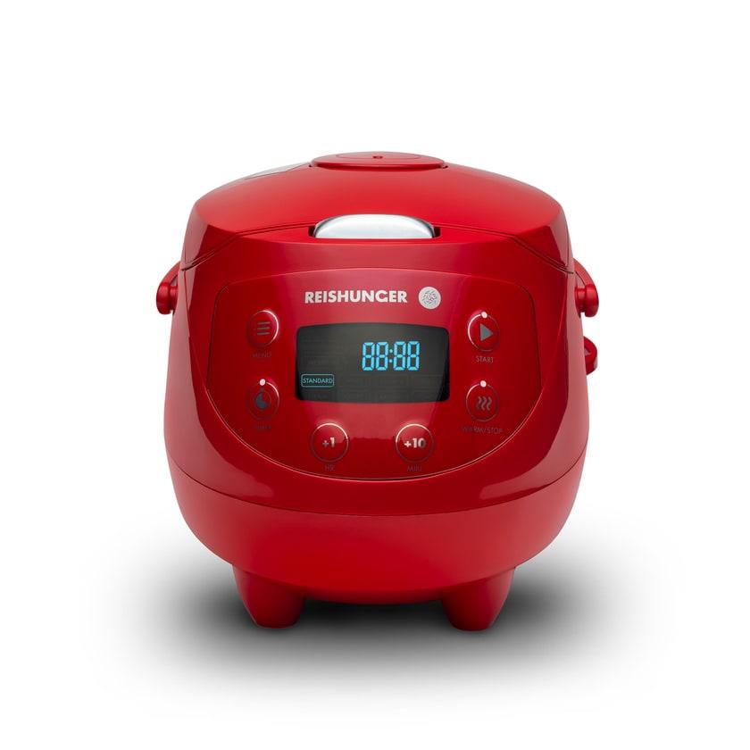 Reishunger Digitaler Mini Reiskocher 350W 0.6l Rot