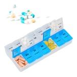 Relaxdays Tablettenbox 7 Tage 2 Fächer