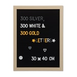 Relaxdays Letterboard Holz 40 x 30 cm