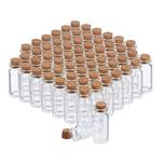 Relaxdays Mini Glasfläschchen mit Korken 60er Set