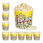 Relaxdays 48 x Popcorn Eimer wiederverwendbar