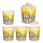 Relaxdays 24 x Popcorn Eimer wiederverwendbar
