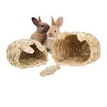 Relaxdays Kaninchenhaus 2er Set mit Spielzeug