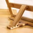 Relaxdays Bambus Buchständer verstellbar