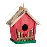 Relaxdays Mini Vogelhaus bunt