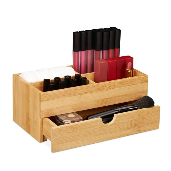 Relaxdays Bambus Kosmetik Organizer