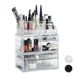 Relaxdays Acryl Make Up Organizer mit 21 Fächern