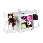 Relaxdays Kindersitzgruppe mit Stauraum ALBUS