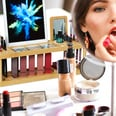 Relaxdays Bambus Kosmetik Organizer mit Spiegel