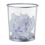 Relaxdays Papierkorb rund Drahtgeflecht