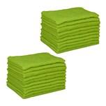 Relaxdays 20 x Mikrofasertücher 40x30 grün