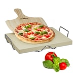 Relaxdays Pizzastein Set 3 cm
