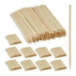Relaxdays 2500 x Schaschlikspieße Bambus
