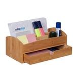 Relaxdays Schreibtisch Organizer mit Schublade